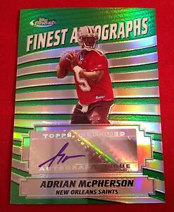 Adrian McPherson signed 2005 Topps Finest Cerrtified Autograph Card