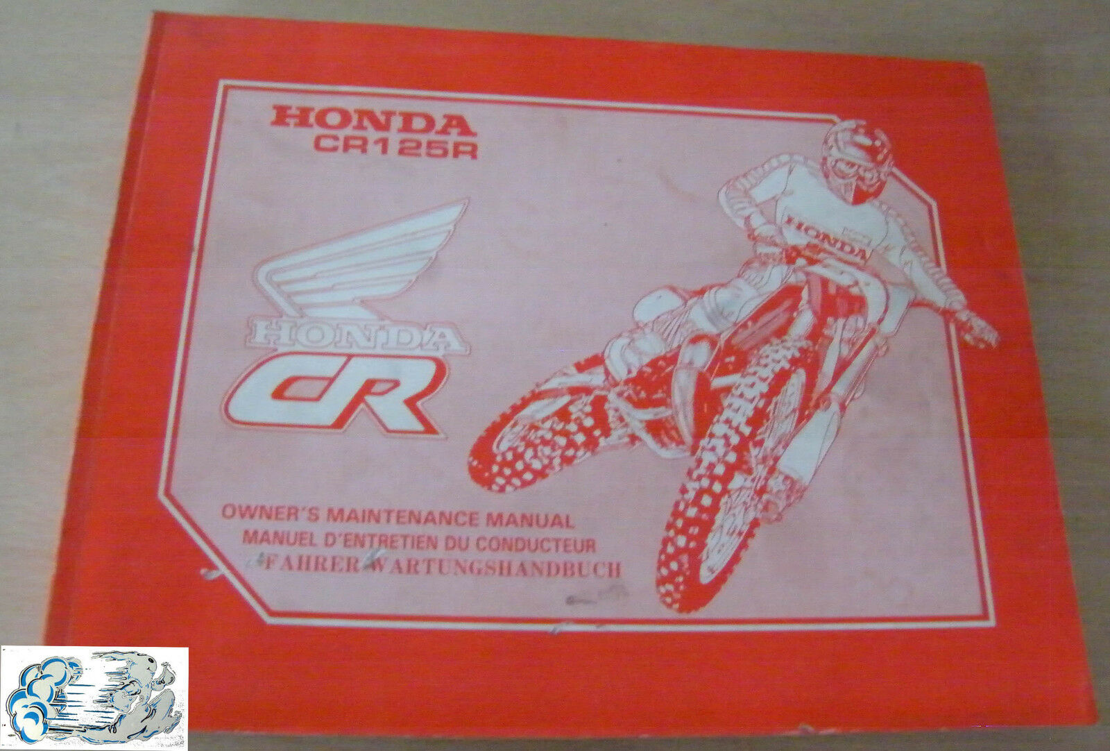 00X37-KZ4-6100 37KZ4610 Manual Oficina Honda CR125R