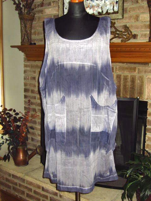 ITEMZ CHRIS BAUMGARTNER SHEER GRADIENT Blau TUNIC DRESS SHIFT  One Größe