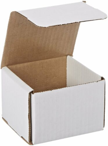 100 4x4x3 White Corrugated Carton Cardboard Packaging Shipping Mailing Box Boxes
