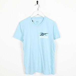 Vintage-REEBOK-Big-Logo-T-Shirt-Tee-blue-Small-S