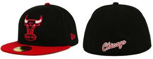 Chicago-Bulls-NBA-New-Era-59Fifty-Fitted-Flat-Brim-Hat-Cap-ALL-SIZES