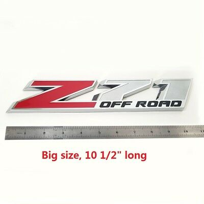 "1x OEM 10/"" Big Chrome Red Z71 Emblem for GMC Chevy Silverado Sierra Tahoe  Lu"