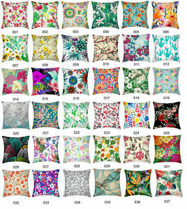 Floral-Pattern-Flower-Leave-Botanical-Cushion-Cover-Home-Decor-Throw-Pillow-Case