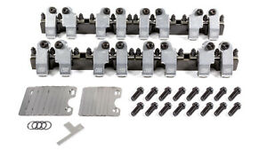T&D Machine Products SBC Shaft Rocker Arm Kit w/Bowtie 18 Deg. Heads