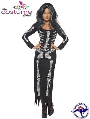 Halloween Ghost Ship Lady Pirate Dress Zombie Costume 8 to PLUS size 22 AU
