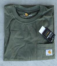 Carhartt Men's K87 Workwear Pocket T-Shirt - Army Green -2 XL - Reg