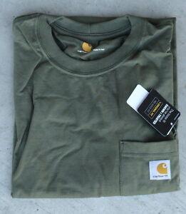 b447e33ab14 Carhartt Men s K87 Workwear Pocket T-Shirt - Army Green -2 XL - Reg ...