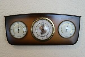 Vintage-Wetterstation-Barometer-Hygrometer-Thermometer-Rockabilly-50s-50er