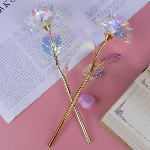 Valentine/'s Day Creative Gift Gold Rose Forever Love Wedding Decor LightingAF