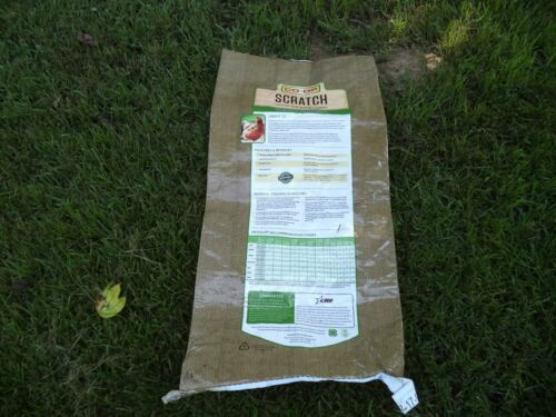 EMPTY  LOT of 3    CO OP 50 lb feed sack EMPTY Scratch chicken food  Upcycle//Cra