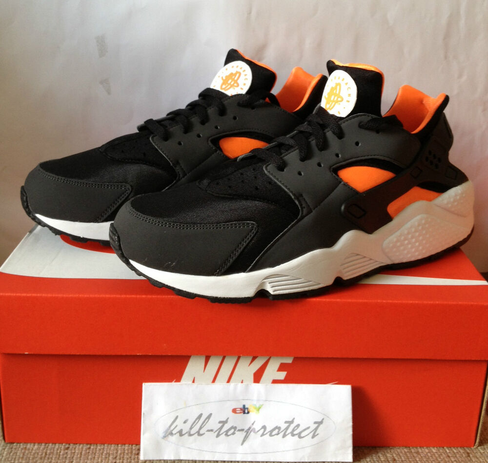 Nike air huarache le us uk 7 8 9 10 11 12 13 noir total orange 318429-081 2013-