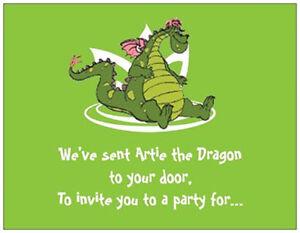 20-Birthday-INVITATIONS-Post-Cards-DRAGON-Fantasy-Child
