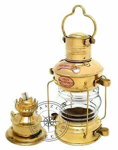 "Maritime Nautical  Ship Lantern 14/"" Brass /& Copper Anchor Oil lamp Boat Light"