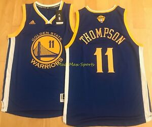 reputable site b2613 8c232 Details about KLAY THOMPSON Golden State WARRIORS 2017 NBA FINALS Throwback  SWINGMAN Jersey
