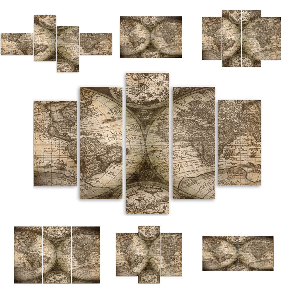 Top Toile Image Images (54 modèles) Modern HD type Beige carte du monde 1621