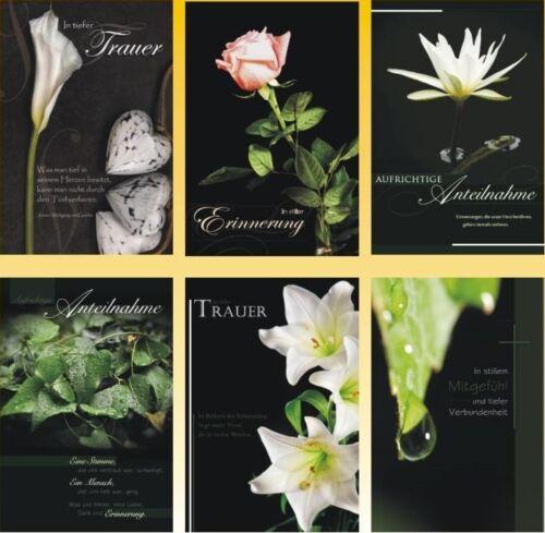 50 Trauerkarten Trauerkarte Trauer Beileidskarten Kondolenzkarten 816680 HI