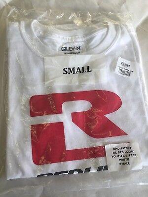Large White Redline Logo Short Sleeve T-Shirt Bmx Bike Youth