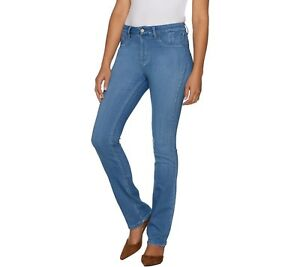 Laurie-Felt-Petite-Silky-Denim-Baby-Bell-Pull-On-Jeans-Bright-Blue-PS-Size-QVC