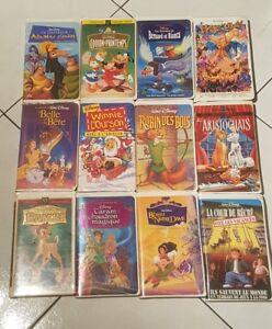 Disney-lot-de-12-VHS-les-aristochats-robin-des-bois-hercules-winnie