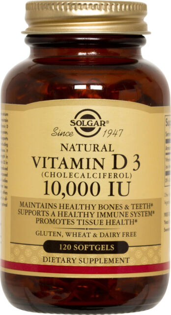 Solgar Vitamin D3 Cholecalciferol 10,000 IU 120 Softgels