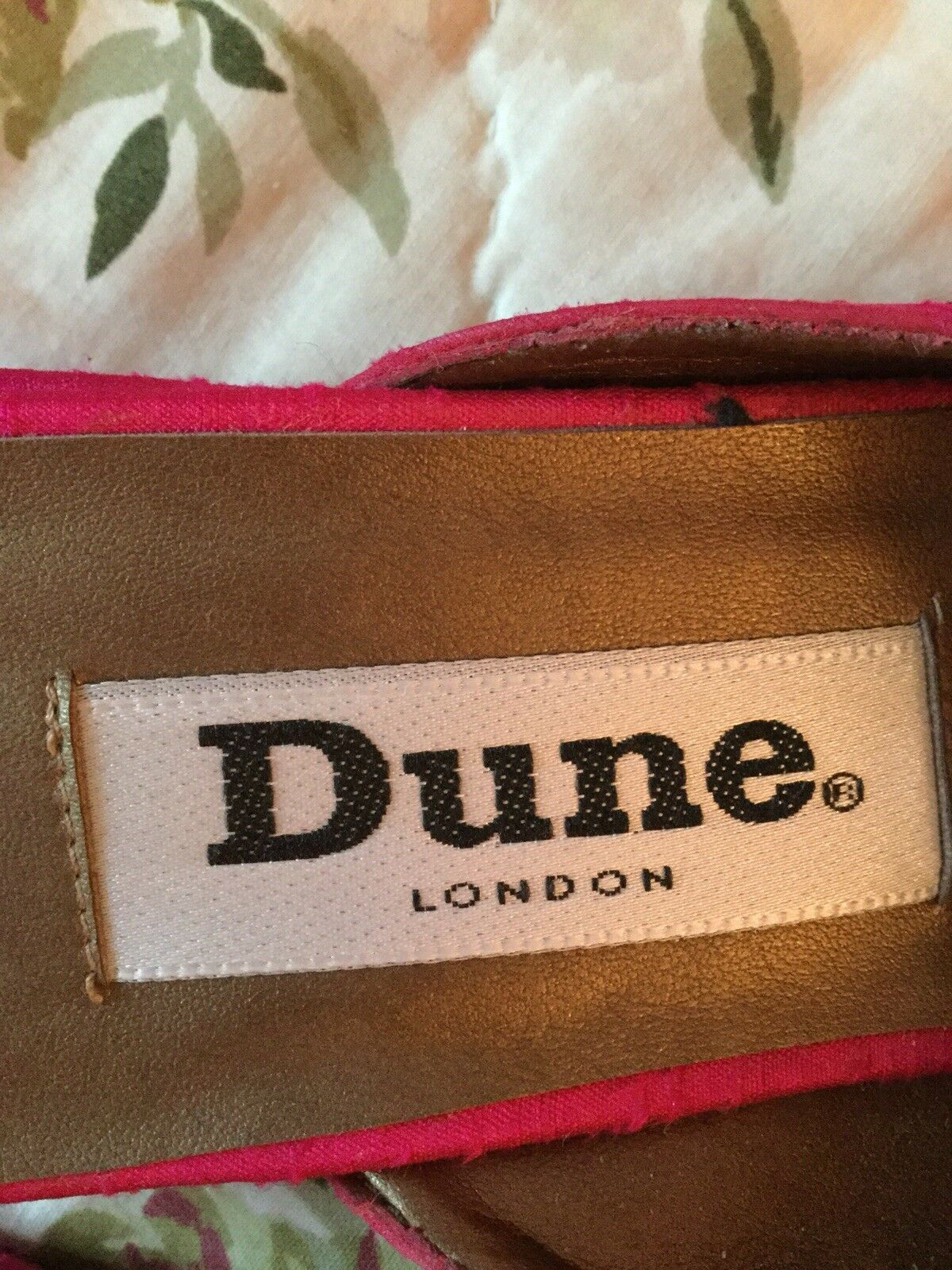 Rare Designer Embelished DUNE LONDON Pink With Embelished Designer Detail Silk Schuhes-Uk 6/39 5f0705
