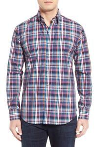 NWT-Bugatchi-Shaped-Fit-Plaid-Sport-Shirt-NWT-L