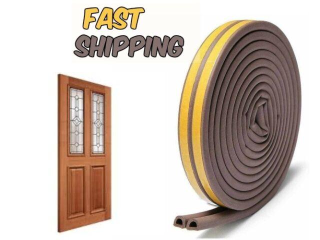 HongWay Door Weather Stripping 5 Seals 82ft//25m Self Adhesive Foam Seal Strip for Doors and Windows Insulation Weatherproof Anti-Collision
