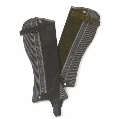 Ovation Ladies Suede Ribbed Half Chaps with DirtResistant Zipper