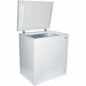 small deep freezer haier 5 0 cu ft chest freezer white compact food 29516