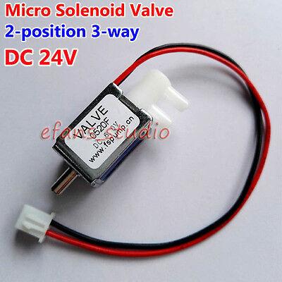 DC 24V 2-position 3-way Port <b>Valve</b> Micro Mini Electric <b>Solenoid Air</b> ...