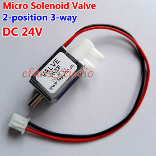 DC 24V 2-position 3-way Port Valve Micro Mini Electric Solenoid Luft Valve