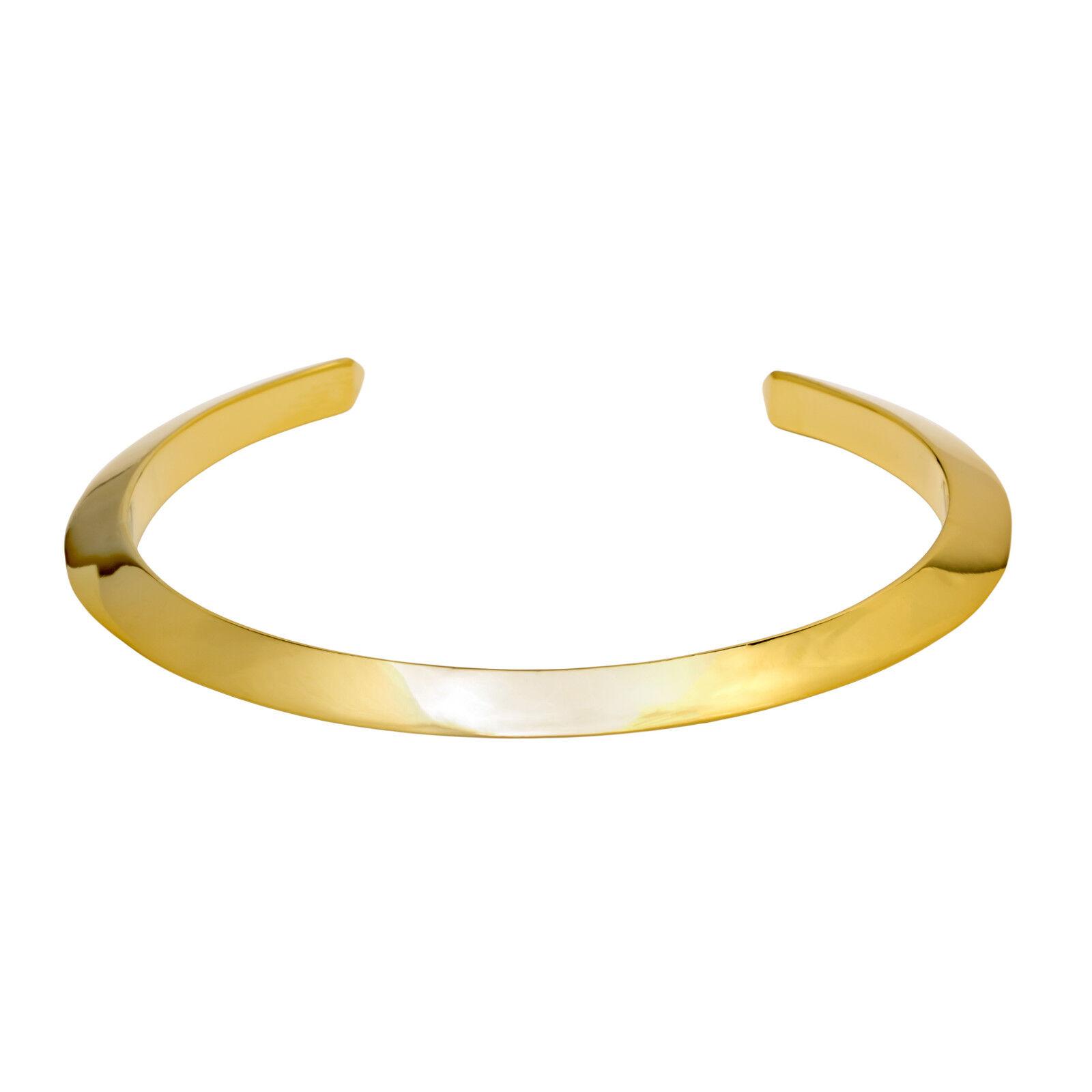 Brass 14K gold Plated Tri-Stud Cuff