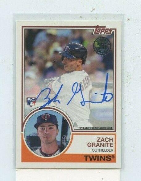 Zach Granite 2018 Topps Series 1 1983 Auto Autograph 83a