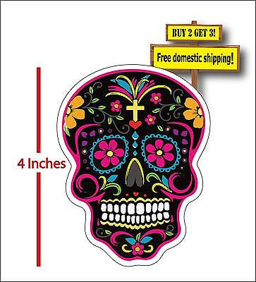 Sugar Skull Day of the Dead Mexican Sugar Skull Car Truck Decal Sticker DOD13