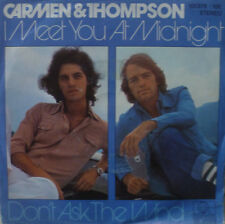 """7"""" 1980 IN MINT- ! PHIL CARMEN & MIKE THOMPSON : I Meet You At Midnight"""