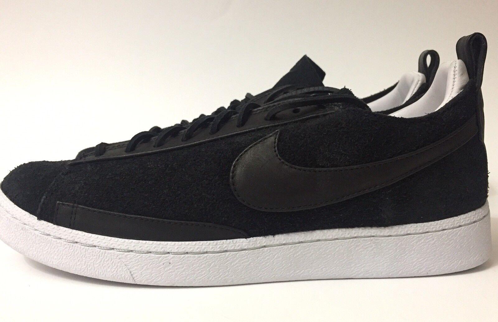 New Mens Nike Blazer Low CS TC Sz10.5 Shoes Sneakers Skating Skate Suede Black Casual wild