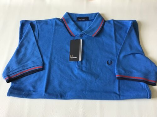 Mens Fred Perry Twin Tipped Polo Shirt   Size Large Slim Fit