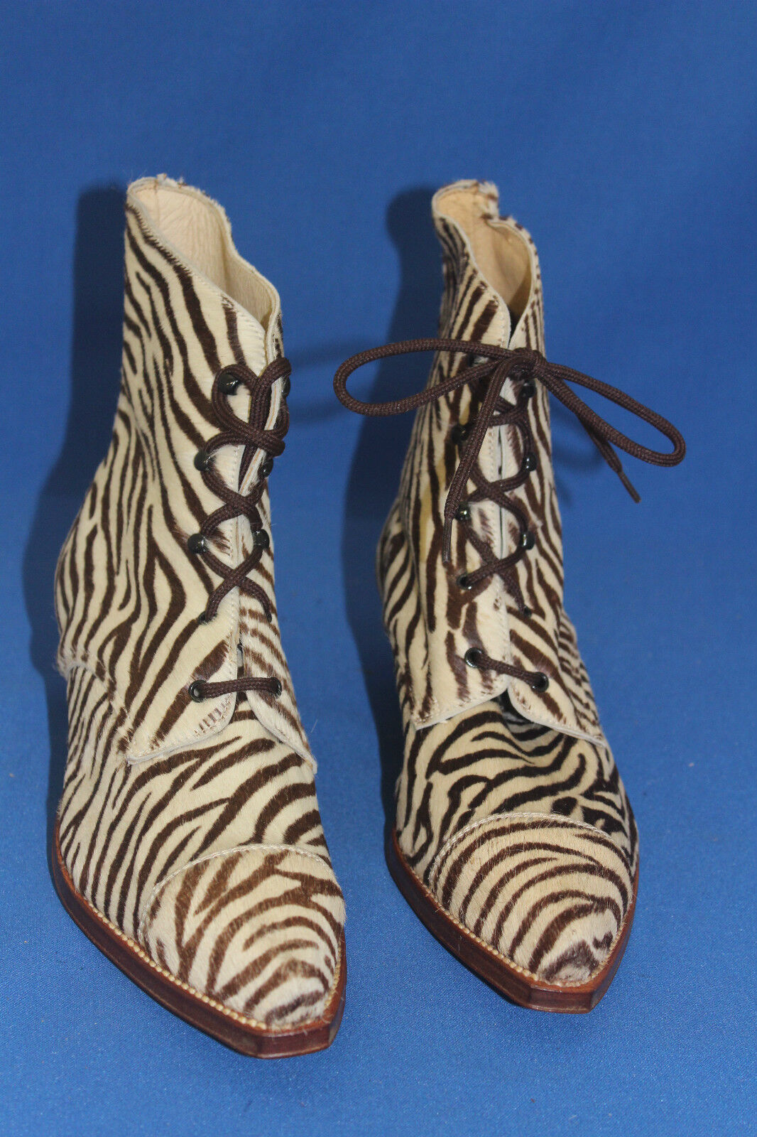 Prime Stiefelette westernstiefel Boots cowboyboots gr. 38 38 38 zebra fell pony leder b9afc8