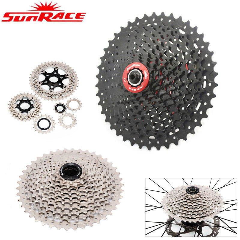 SunRace MTB CASSETTA 891011 velocità ruota libera bicicletta ingranaggi fit Shiuomoo SRAM