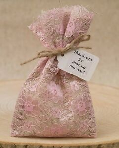 Image Is Loading Shabby Chic 1 100 Vintage Hessian Amp Pink