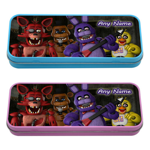 FNAF Five Nights at Freddy/'s PERSONALISED Pencil Case Tin School Kids Stationary