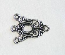 20x 3 a 1 Conectores de Plata Tibetana/enlaces para joyería/pulseras/Pendientes