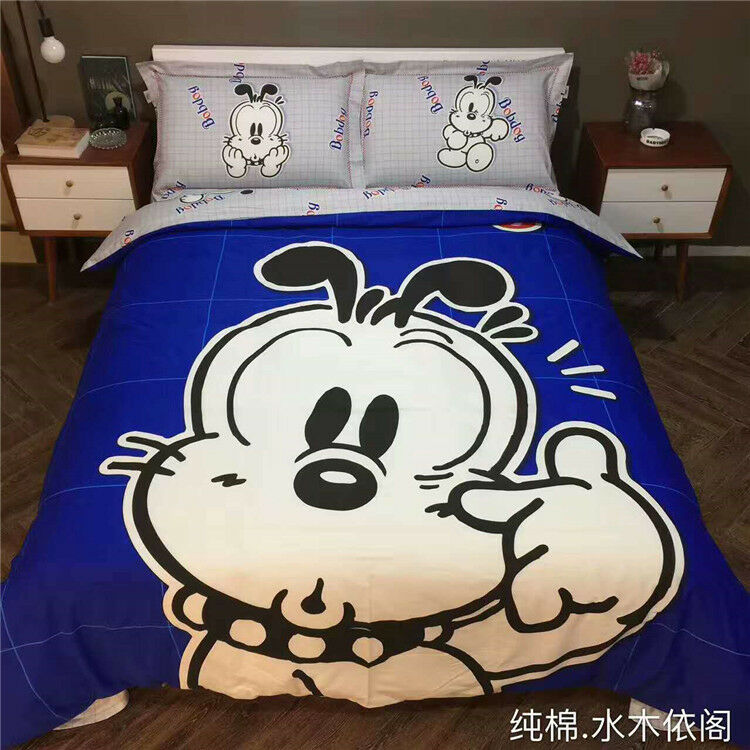 Dog Twin Queen & King Dimensione Duvet Cover Bed Sheet Bedding Set Boys Kids blu