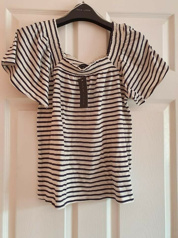 Bnwt New Look Femme à Rayures Femme Taille 10