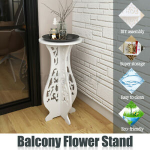Balcony-Floor-Standing-Room-Plant-Flower-Pot-Round-Table-Stand-Display-Decor
