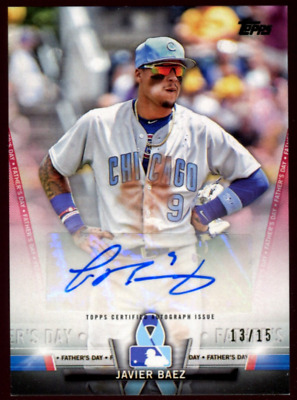 Javier Baez 2018 Topps Triple Threads 13 Piece Jersey Card Serial #23//27 Chicago Cubs