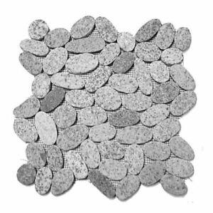 Sliced Gray Grey Flat Pebble Tile