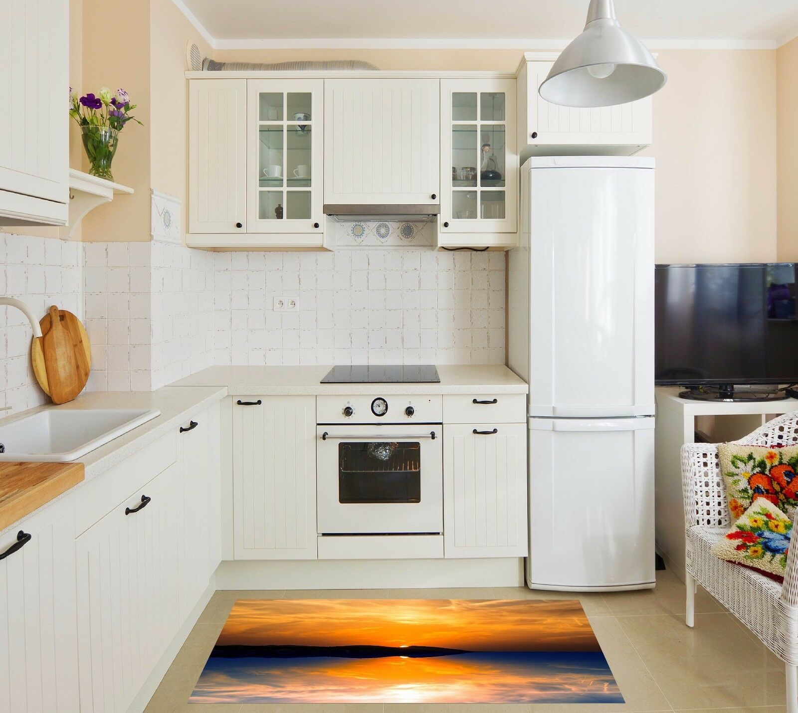 3D Dusk Sea 627 Kitchen Mat Floor Murals Wall Print Wall AJ WALLPAPER AU Kyra