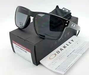 9392aea3492b30 Image is loading NEW-Oakley-Holbrook-sunglasses-Polished -Black-Grey-Polarized-